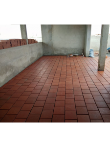 TERRACE FLOOR TILE WORK IN PROGRESS